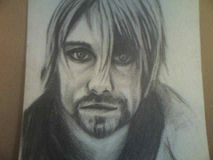 Kurt Cobain by Quinonostante (pencil drawing)