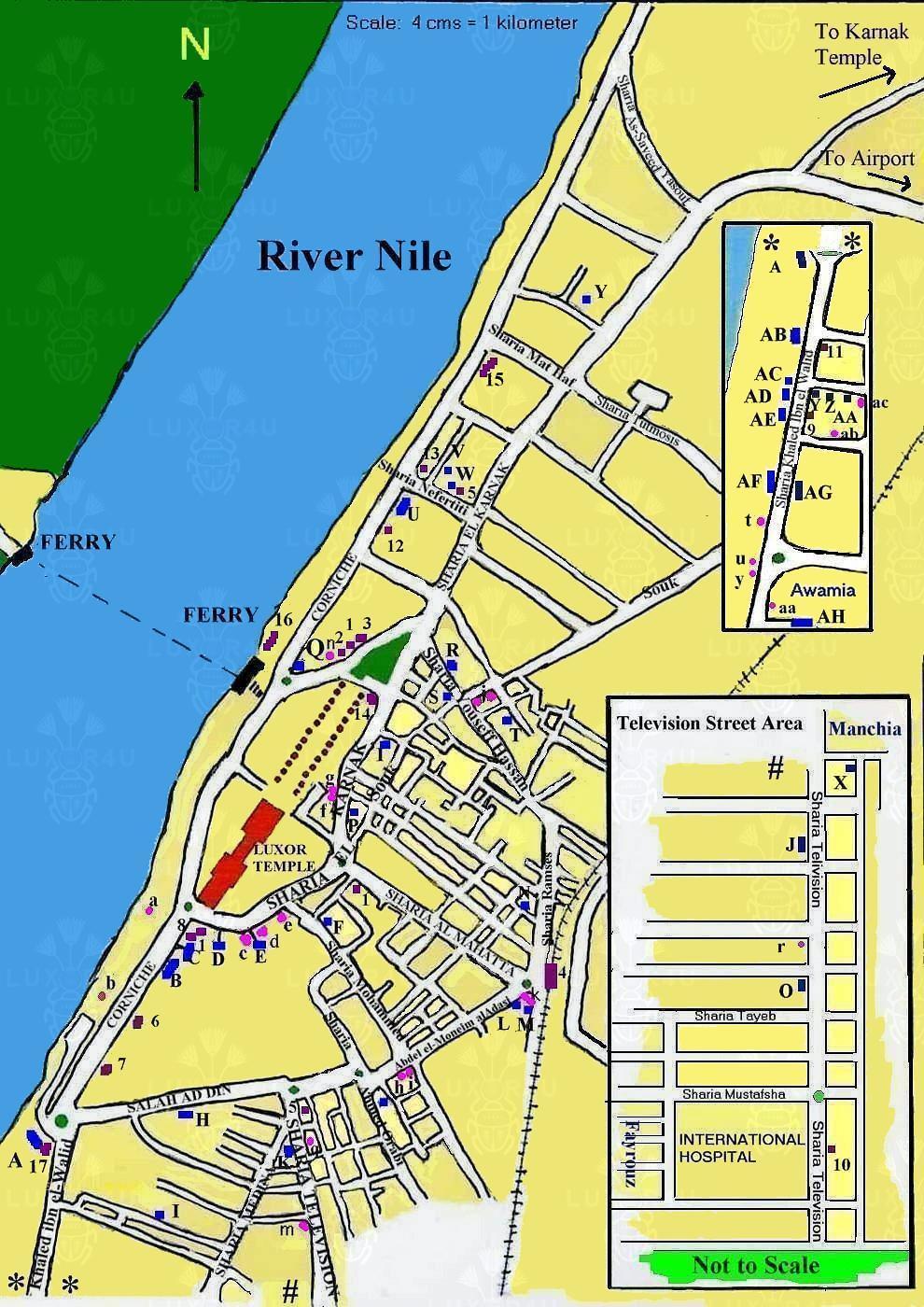 Luxor4u Luxor Street Map